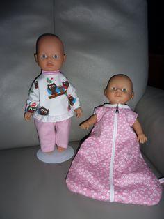 Pyjama en slaapzak BabyBorn 32 cm. Beiden eigen ontwerp