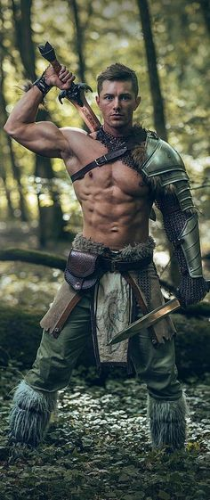 m Barbarian leader forest hills wilderness Celtic Warrior by Mathieu Degrotte on … Fantasy Male, Fantasy Armor, Medieval Fantasy, Dark Fantasy, Fantasy Fighter, Celtic Warriors, Female Warriors, Warriors Game, Armor Clothing