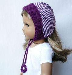 Ravelry: Fleur - American Girl 18 Inch Doll Hat pattern by Steph Wylie