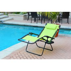 Oversized Zero Gravity Chair with Sunshade and Drink Tray - Black Finish