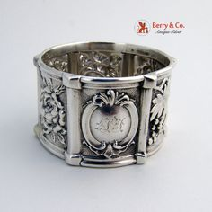 American Coin Silver Repousse Napkin Ring 1850