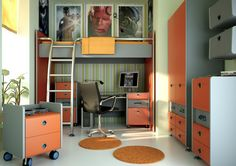 Great teen room-Soft Coloring Bedroom With Superhero Photos