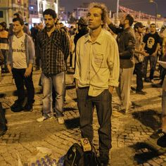 Turkish choreographer Erdem Gunduz has inspired a new form of anti-government protest: Standing silently for hours.