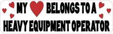 10in x 3in Heavy Equipment Operator Bumper Sticker Vinyl Car Window Decal