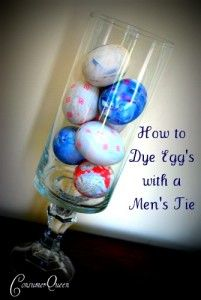 Easter eggs dyed with silk ties....love this idea. Tucking it away for next year!