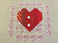 Heart quilt block for my little girl to make