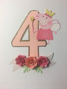 Este artículo no está disponible - Peppa Pig Birthday Cake Topper Cake Topper Cake Decor Peppa Pig Birthday Cake, Baby Girl Birthday, Birthday Cake Toppers, Birthday Fun, Peppa Pig Balloons, Cumple Peppa Pig, Preschool Decor, Pig Party, Birthday Party Decorations