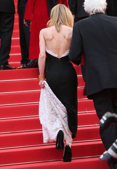 Pin for Later: See Every Last Candid Style Moment From Cannes Vanessa Paradis Lifted Her Chanel Lace Up the Steps