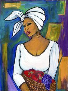 African Woman Wall Art - Painting - Juju by Diane Britton Dunham Black Women Art, Black Art, Afrique Art, African Art Paintings, Caribbean Art, Art Africain, African American Art, Love Art, Female Art