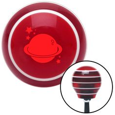 Red Planet Stars Red Stripe Shift Knob with M16 x 15 Insert