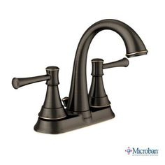 MOEN Ashville 4 in. Centerset 2-Handle Bathroom Faucet with Microban Protection in Mediterranean Bronze-84777MBRB at The Home Depot