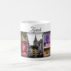 Zurich Travel Collection Coffee Mug - office ideas diy customize special