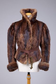 1890s fur jacket via The Goldstein Museum of Design.
