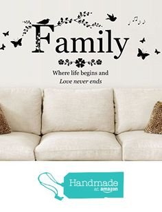 Family Where Life Begins And Love Never Ends Quote Vinyl Wall Art