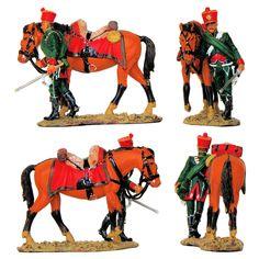"""Cazador a caballo francés - 1812 (Colección """"Caballeros de las Guerras Napoleónicas"""" editada por delPrado - 60 mm) Subido desde www.elgrancapitan.org"""