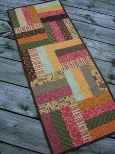 Autumn Fields Rail Fence Table Runner by WoodenNeedleNook on Etsy
