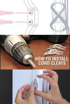 Cord cleats keep dangerous, dangling cords out of the way of playful children and pets. Cord cleats are easily attached to the wall on either side of the window. They're used to wrap the window covering's pull and/or tilt cords around them, keeping the cords tied neatly up and out of the reach of grabby little hands..#smartblinds #smart #blinds #smarthome #smartfashion #decor #homedecor #homeornamentation #smartbedroom #curtains #curtain #curtainsdesign. Home Safety, Window Coverings, Cords, Smart Home, Tilt, Cleats, Blinds, Home Appliances, Curtains