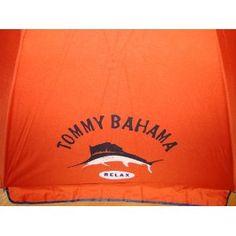Tommy Bahama 7 Ft Beach Umbrella with Sand Anchor and Tilt SPF 100 - Dark Orange