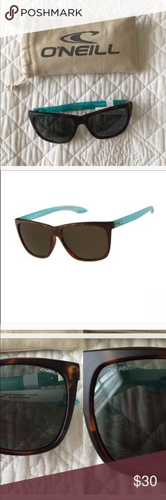 NEW O'Neill sunnies🎁 New with tags•Dark Brown & Teal•O'Neill Polarized sunglasses. Retail for $55. Comes with soft O'Neill carrying bag. O'Neill Accessories Sunglasses