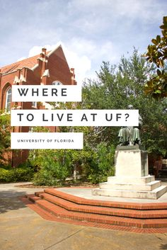 Wondering where to live at the University of Florida? Here's the definitive map guide of the best places near the Gator Nation & UF Sorority Row.