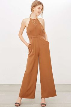 Finders Keepers Guilty Pleasure Wide-Leg Jumpsuit  #urbanoutfitters