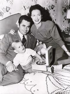 Glenn Ford and son Peter with  Eleanor Powell