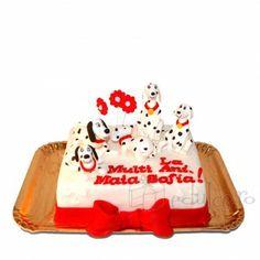 101 Dalmatieni pentru piticul tau Cake, Desserts, Food, Figurine, Tailgate Desserts, Deserts, Kuchen, Essen, Postres