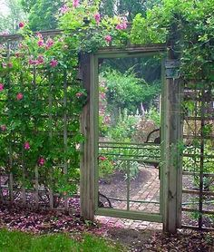 UpCycled DIY Garden Gate Ideas is part of Secret garden Layout - DIY garden gates ! Here are some great upcycled backyard gates! Anyone who is handy can accomplish these garden gate ideas
