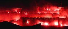 La cité médiévale de Carcassonne embrasement du 14 Juillet