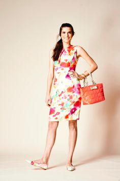 7597aae59f a colorful dress of course calls for a colorful bag—pick one in a solid