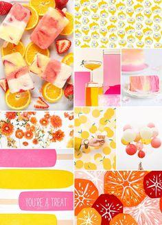 citrus + sorbet summertime inspiration