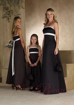 Black Bridesmaids Dresses Black junior bridesmaid dress