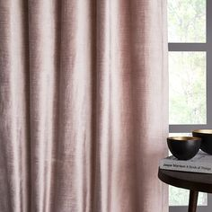 7 Insane Ideas: Velvet Curtains Home french curtains shabby chic.No Sew Curtains Fabric curtains and blinds living room. Blush Curtains, No Sew Curtains, Drop Cloth Curtains, Burlap Curtains, Boho Curtains, Green Curtains, Rod Pocket Curtains, Velvet Curtains, Hanging Curtains