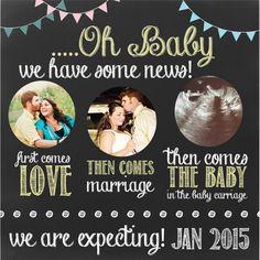 create pregnancy announcement online