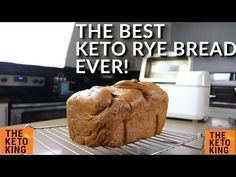 The BEST Keto Bread EVER - Keto Rye! | Keto yeast bread | Low Carb Bread | Bread Machine Recipe - YouTube Bread Machine Rye Bread Recipe, Bread Recipe Book, Rye Bread Recipes, Yeast Bread, Keto Recipes, Best Keto Bread, Low Carb Bread, Low Carb Keto, Banting Bread