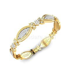 Buy Yellow Gold 18K 22.85 Diamond No Tanushka Diamond Bangle Online at Candere.com. All India free shipping plus easy interest free EMI facility with lifetime exchange offer for more click here ~ http://www.candere.com/tanushka-diamond-bangle-1486.html