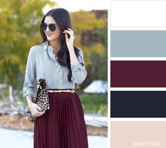 10 Classic color combinations to create a perfect look with your clothes - Kleider Colour Combinations Fashion, Color Combinations For Clothes, Fashion Colours, Colorful Fashion, Color Combos, Trendy Fashion, Style Fashion, Autumn Fashion, Mode Inspiration