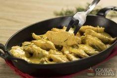 Receita de Frango sassami ao curry em Aves, veja essa e outras receitas aqui!