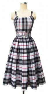 50's Inspired Plaid Cotton Trashy Diva 'Annette Dress'