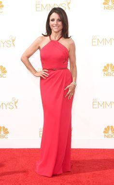 Julia Louis-Dreyfus in Carolina Herrera at the 2014 Emmys Red Carpet
