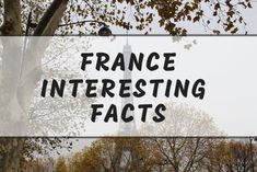 Intersting France facts