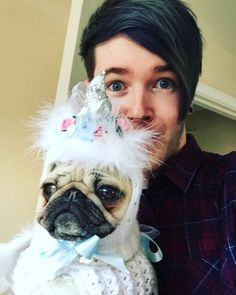 DanTDM and his pug UNICORN