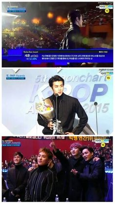 look how proud exo was when their Baby Maknae won the weibo star award