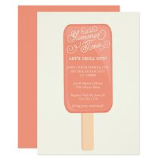 Summer Cookout Party Invitation - Popsicle , #AD, #Party#Invitation#Popsicle#Shop
