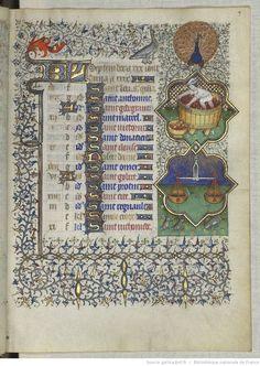 September - Horae ad usum romanum, Heures de Marguerite d'Orléans, vers 1429-1430, BNF, Latin 1156B
