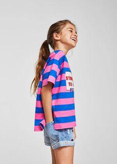 Mango Message Striped T-Shirt - Girls b247df360