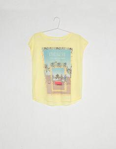 T-shirt imprimé BSK ouverture dans le dos - T-shirts - Bershka France