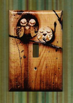 Save the Owls Switchplate cover by TurnMeOnArt on Etsy, $11.00