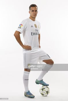 Lucas Vazquez of Real Madrid poses during the official portrait photocall at Valdebebas training ground on September 28, 2015 in Madrid, Spain.