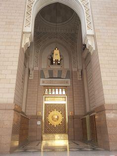 Entrance Door Masjid Al Quba in Medina & Entrance Door Al Masjid Al Haram in Two Holy Mosques Architecture ...